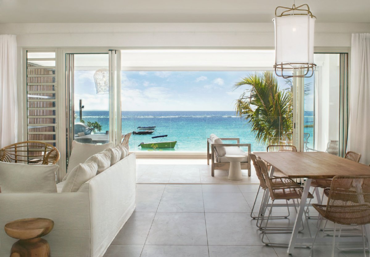 For rent Beachfront Penthouses and Apartments Trou aux Biches
